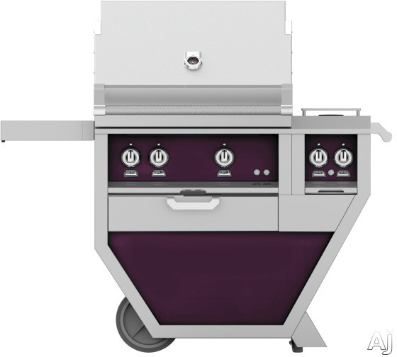 Hestan GMBR30CX2PP 49 Inch Freestanding Grill with Rotisserie, Sear Burner, Warming Rack, 49 Inch Freestanding Grill, 525 sq. in. Grilling Area, Trellis Burner, Double Side Burner, 92,000 BTU, Horizon