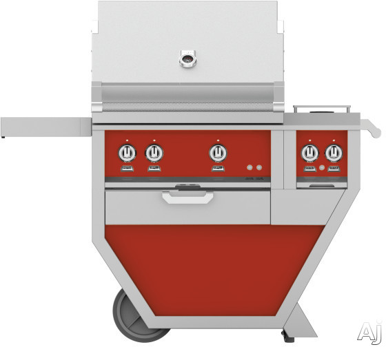 Hestan GMBR30CX2RD 49 Inch Freestanding Grill with Rotisserie, Sear Burner, Warming Rack, 49 Inch Freestanding Grill, 525 sq. in. Grilling Area, Trellis Burner, Double Side Burner, 92,000 BTU, Horizon
