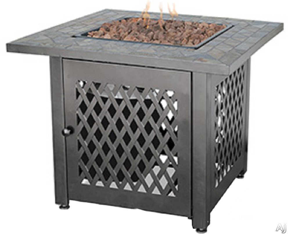 Blue Rhino GAD1429SP Outdoor LP Gas Fireplace with 30,000 BTU, Electronic Ignition, Slate Tile Mantle, Steel Bowl and Lava Rocks Included