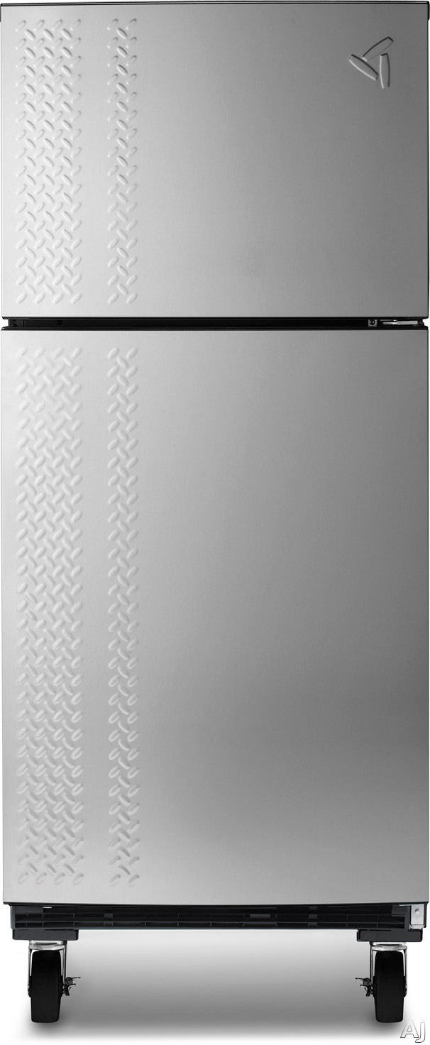 Gladiator GARF19XXYK 190 cu ft Top Freezer Garage Refrigerator with 4 Adjustable Glass Shelves 2 Clear Crispers Gallon Door Storage and Built In Heater