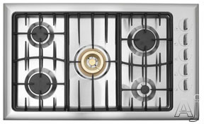 """Fisher Electronics - Fisher Paykel GC913SS 36"""" Sealed Burner Gas Cooktop With Rapid Burner Accurate Temperature Control And Electronic Auto Re-Ignition"""