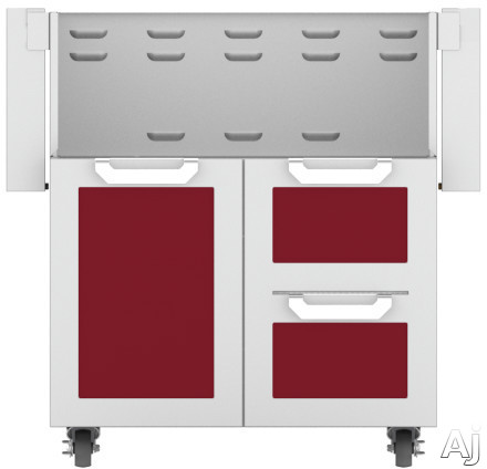 Hestan GCR30BG 30 Inch Double Drawer and Door Grill Cart: Tin Roof