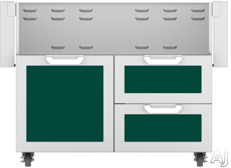 Hestan GCR42BG 42 Inch Double Drawer and Door Grill Cart: Tin Roof