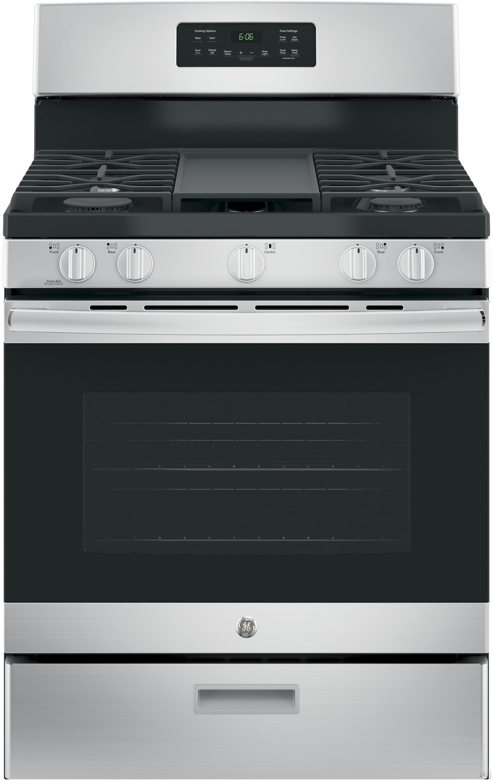 "30"" Free-Standing Gas Range with Griddle Finish: Stainless Steel -  JGBS66REKSS"