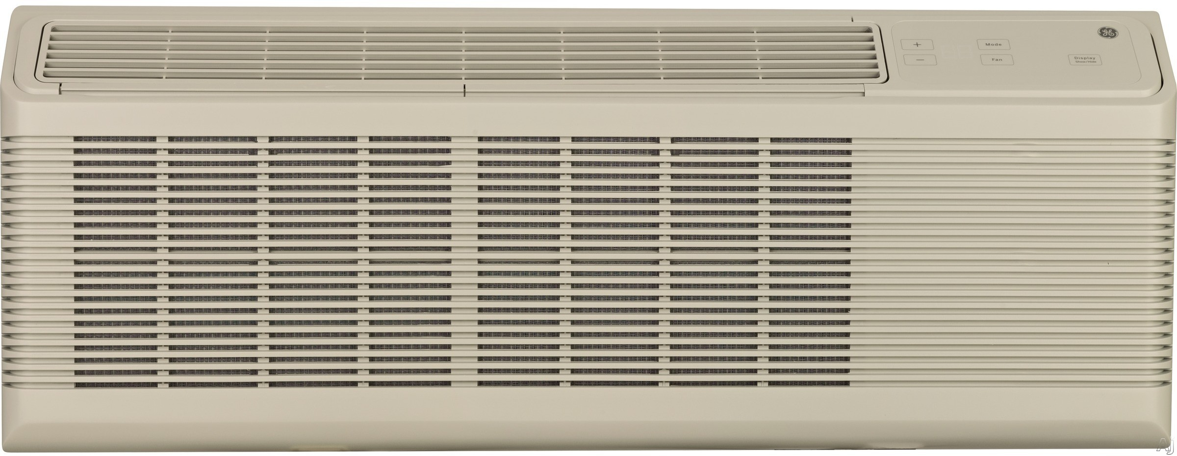 GE Zoneline AZ65H15DAB 14,400 BTU Packaged Terminal Air Conditioner with 13,500 BTU Heat Pump and Electric Heat Backup, 449 CFM, 10.6 EER, 4.8 Pts/Hr Dehumidification and 3 Fan Speeds AZ65H15DAB