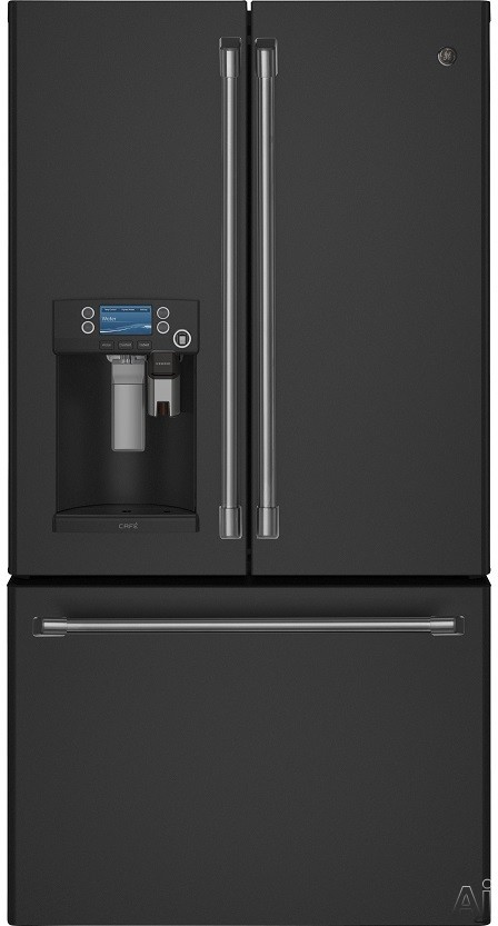 GE Cafe Series CFE28U 36 Inch French Door Refrigerator with Keurig K-Cup ® Coffee Brewing Practice, Precise Fill, Hot Water Scheduling, WiFi Connect, TwinChillâ ¢, Spillproof Shelving, Gallon Door Storage, Sabbath Wise, ADA Compliant, ENERGY STAR ® and