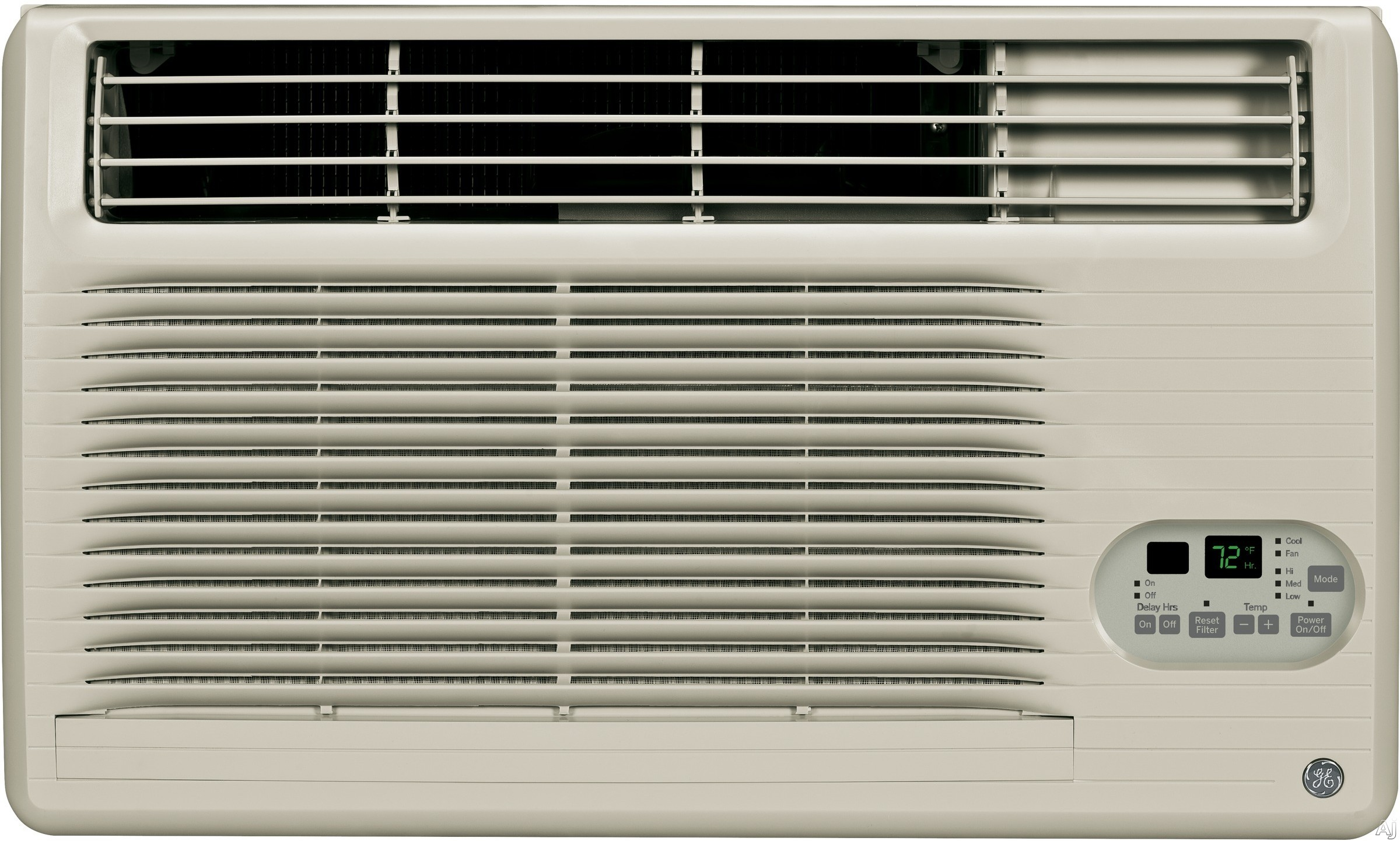 GE AJCM12DCG 12 000 BTU Thru the Wall Air Conditioner with 10.6 EER R 410A Refrigerant 3.4 Pts Hr Dehumidification Electronic Controls ADA Compliant ENERGY STAR and Remote Control