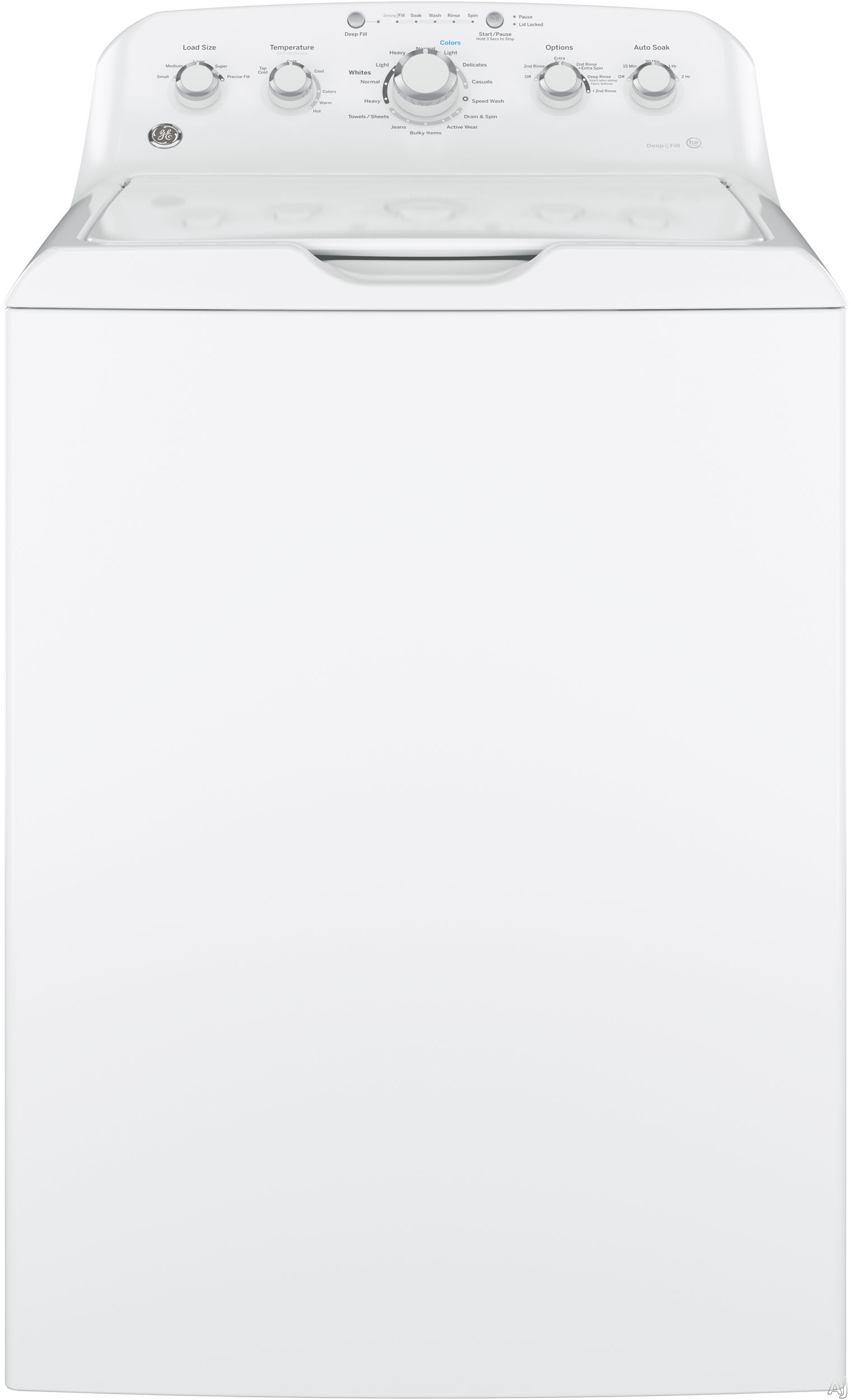 "White Top Load Laundry Pair with GTW460ASJWW 27"""" Washer and GTD42GASJWW 27"""" Gas"" 602743"