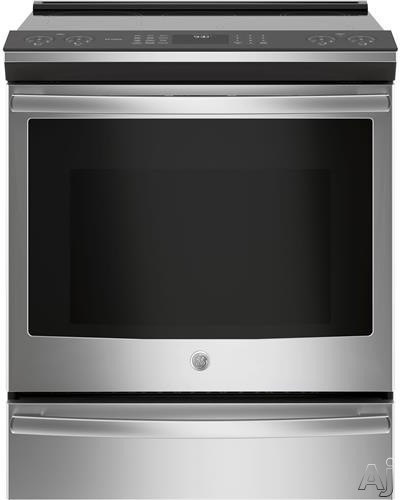GE Profile PHS930SLSS 30 Inch Slide-In Induction Range with WiFi Connect, True Convection Oven, Glide Touch Controls, Fast Preheat, Chef Connect, Storage Drawer, 2 Synchronized Elements, Auto Self Cle