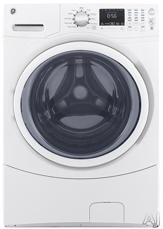 GE GFW430SSMWW 27 Inch Front Load Washer with Time Saver, Extended Tumble, Sanitize with Oxi, My Cycle, Adaptive Vibration Control, ADA Compliant, ENERGY STAR® and 4.5 cu. ft. Capacity GFW430SSMWW