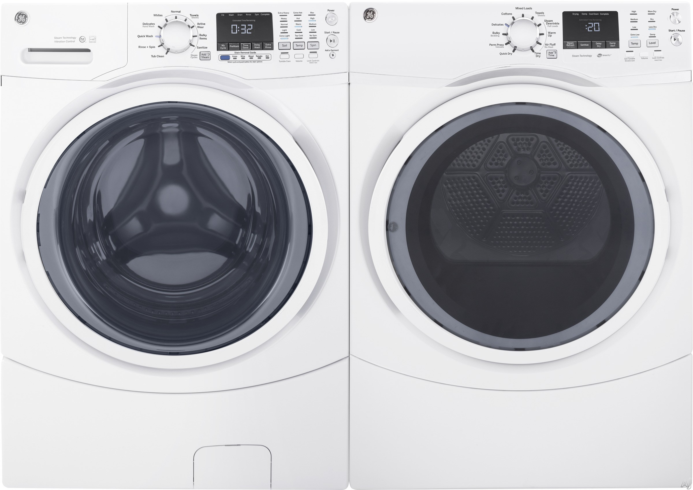 Ge Ge450skfl Ge 450sk Series Front Load Washer Dryer Pair