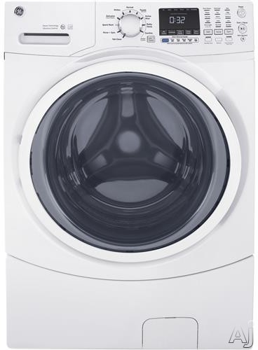 GE GFW450S 27 Inch Front Load Washer with Internal Water Heater, 10 Wash Cycles, Steam, Quick Wash, Tumble Care, 1300 RPM, Time Saver, 9 Wash Options, 4.5 cu. ft. Capacity, ADA Compliant and ENERGY STAR® GFW450S