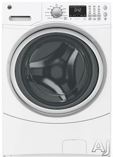 GE GFWN1600JWW 27 Inch 4.3 cu. ft. Front Load Washer with 11 Wash Cycles, 1,100 RPM, Sanitize with Oxi, Speed Wash, Extended Tumble, Load-Sensing Adaptive Fill and ENERGY STAR Certification GFWN1600JWW
