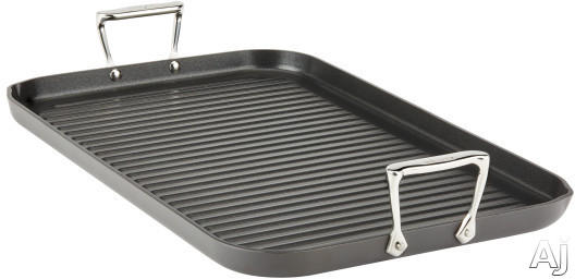 Image of All Clad E7954164 13 x 20 Inch Grande Grill Pan with Non-Stick, Stainless Steel Handles, Oven Safe, Dishwasher Safe, Hard Anodized Aluminum and Limited Lifetime Warranty