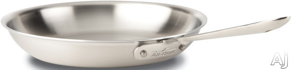 Image of All Clad BD55112 12 Inch d5 Brushed Stainless Steel Fry Pan with 5-Ply Stainless Steel, Polished Surface, Stainless Steel Handles, Induction Suitable, Oven Safe, Dishwasher Safe, Limited Lifetime Warranty and Made in USA