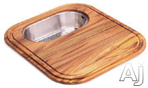 Franke EuroPro Series GN2045SP Solid Wood Cutting Board with Polished Stainless Colander