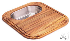 Franke EuroPro Series GN2845SP Solid Wood Cutting Board with Polished Stainless Colander