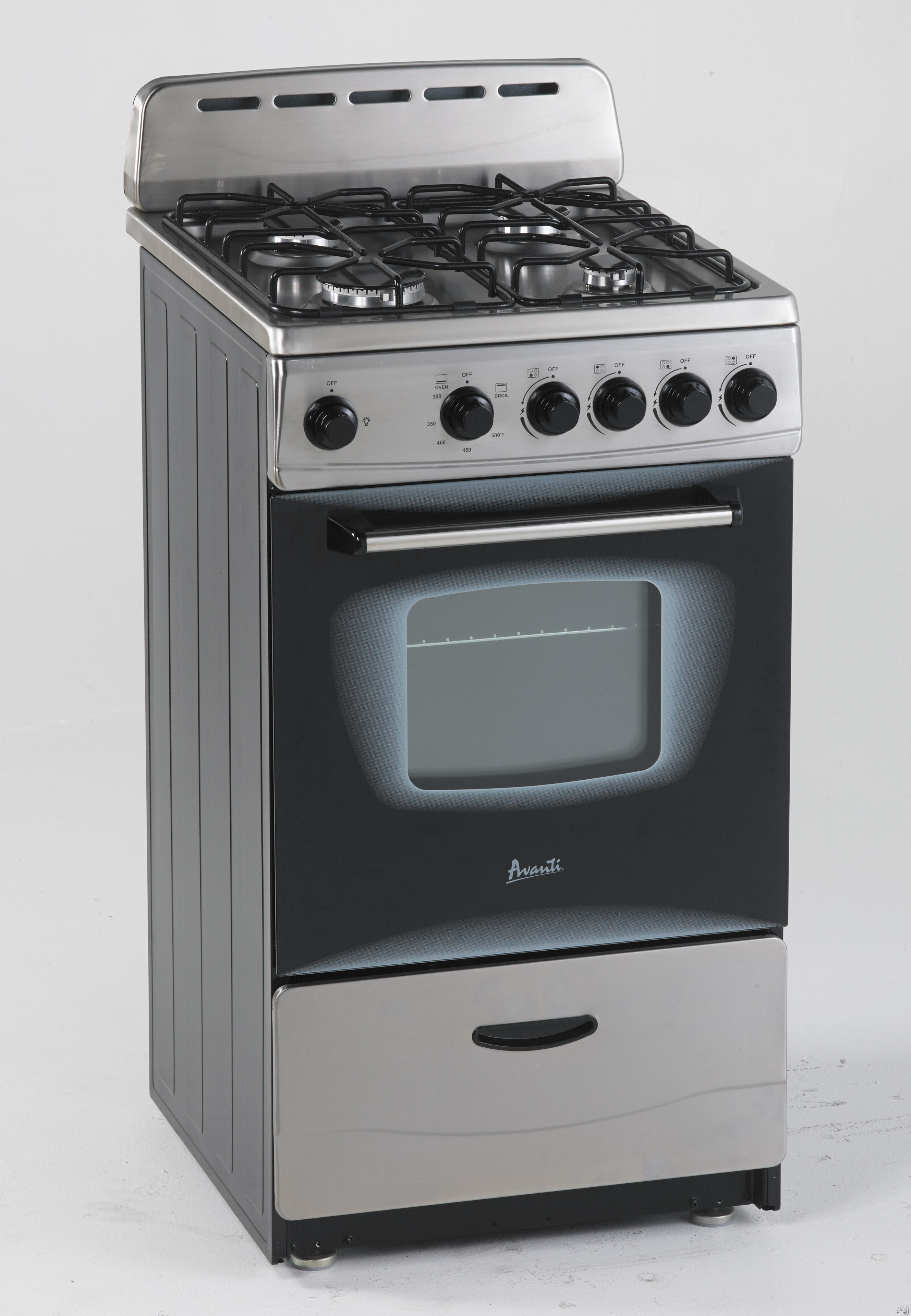 Avanti Gr2013css 20 Inch Freestanding Gas Range With 4