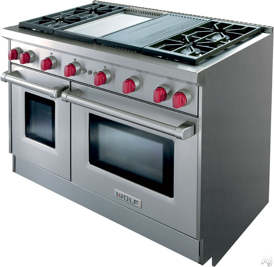 Wolf Gr484cgx 48 Quot Pro Style Gas Range With 4 Dual Stacked