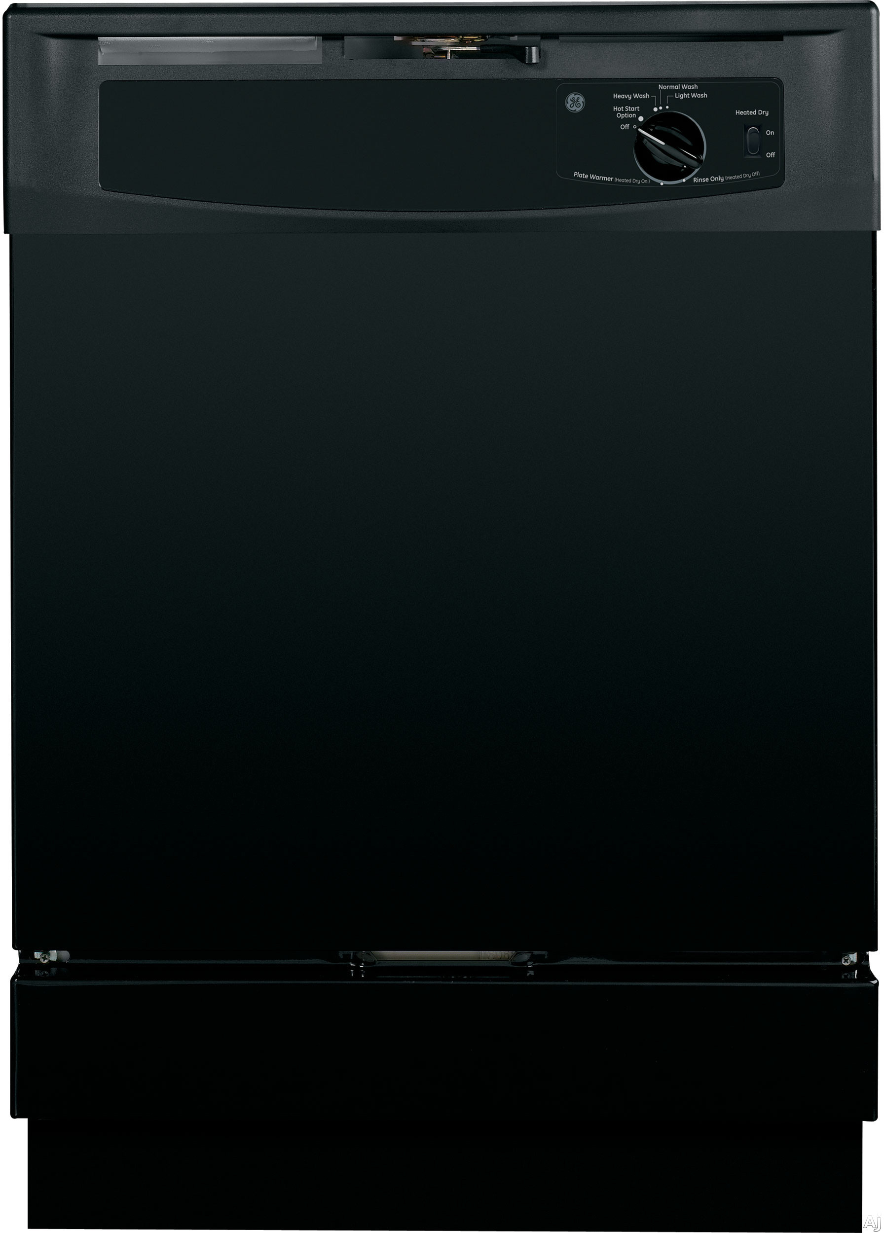 GE GSD2100VBB Full Console Dishwasher with Piranhaâ ¢ Hard Food Disposer, HotStart Option, Extra Fine Filter, 12-Place Settings, 5 Wash Cycles, 64 dBA Silence Rating, 4-Level Wash System, Short Wash and ENERGY STAR ®: Black