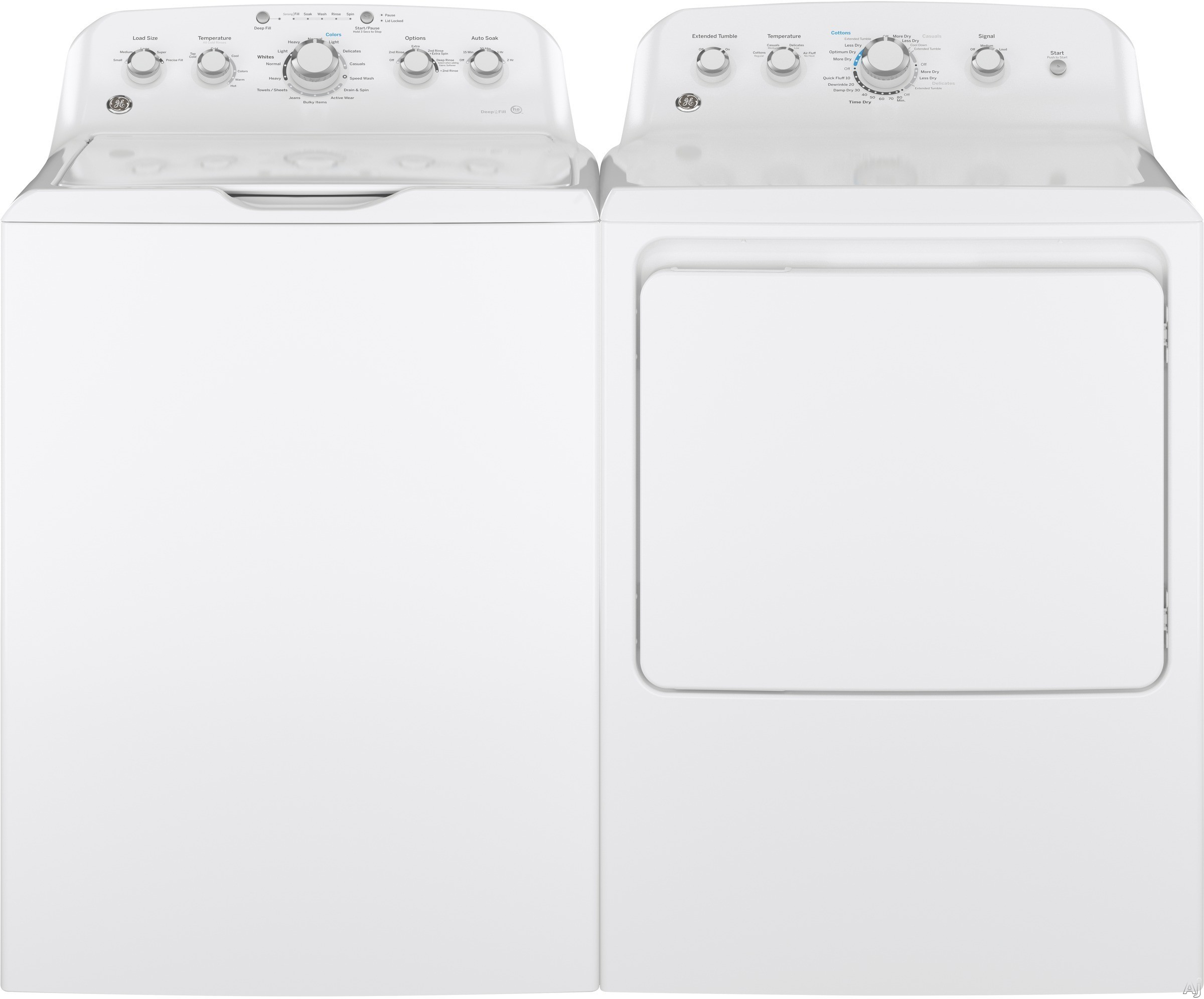Washer And Dryer Dimensions Front Loading Ge Ge460tl Ge 460 Series Top Load Washer Dryer
