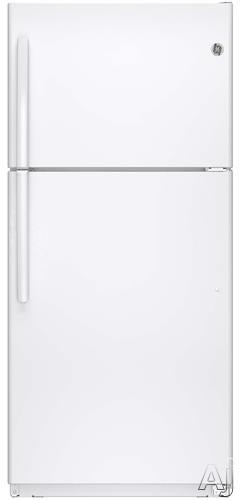 GE GTE18ETH 30 Inch Top-Freezer Refrigerator with 18.2 cu. ft. Capacity, 3 Shelves, Gallon Door Storage, Upfront Dual Temperature Controls, Automatic Defrost, ADA Compliance, ENERGY STAR and Optional Ice Maker