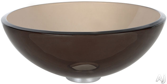 """Kraus Clear Brown Series GV10314ORB 14"""" Clear Brown Glass Vessel Sink with 5 1 / 2"""" Bowl Depth, U.S. & Canada GV10314ORB"""