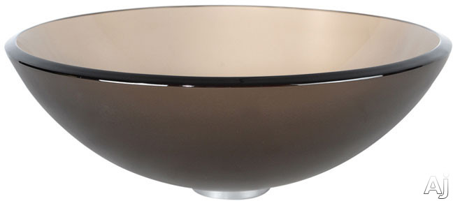 """Kraus Frosted Brown Series GV103FRG 16 1 / 2"""" Frosted Brown Glass Vessel Sink with 5 1 / 2"""" Bowl, U.S. & Canada GV103FRG"""