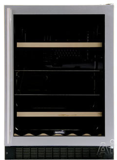 "Marvel Luxury Series 6BARMBDL 24"" Dual Zone Beverage / Wine Refrigerator with 14-Wine Bottle, U.S. & Canada 6BARMBDL"