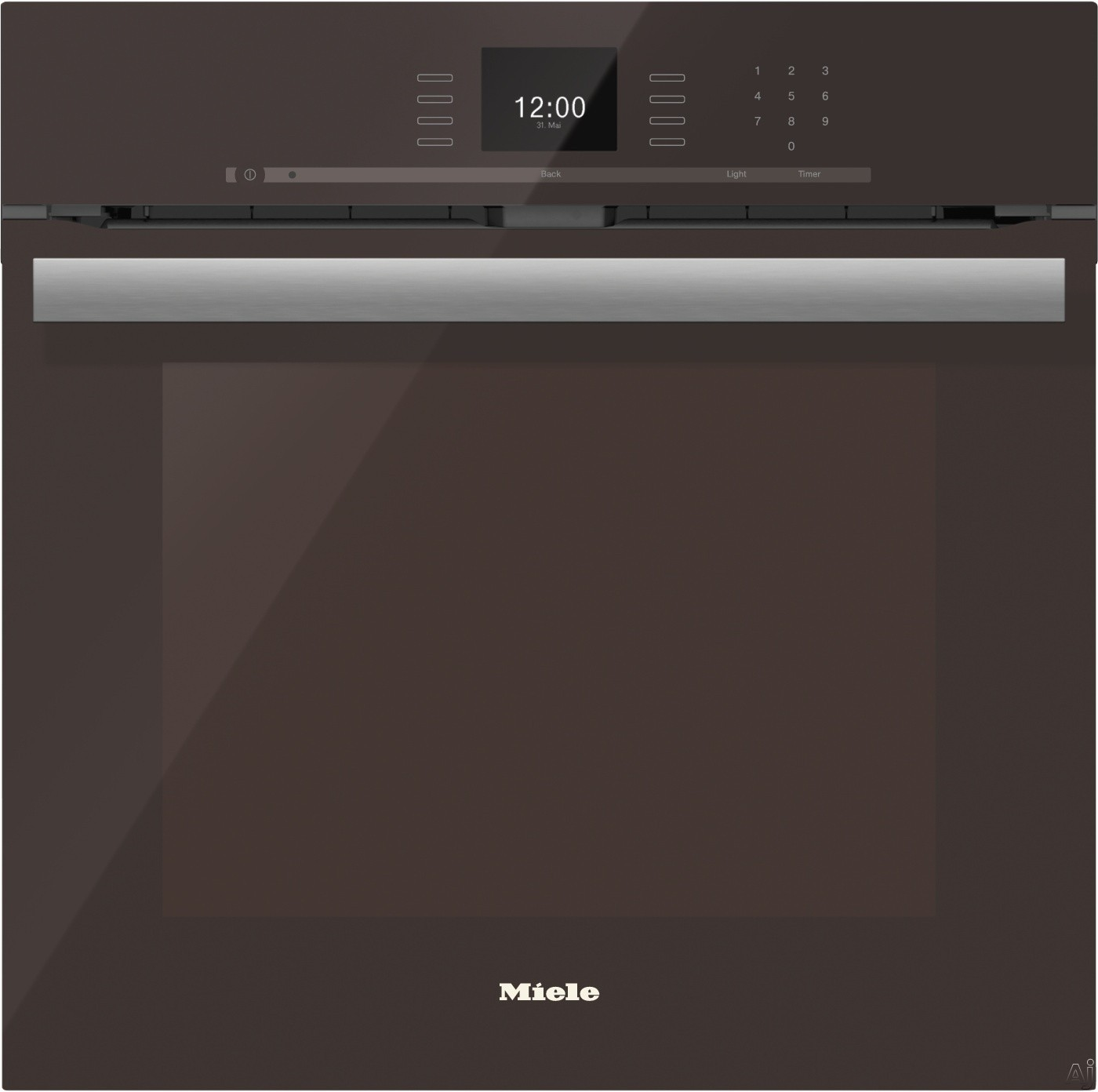 Miele PureLine SensorTronic Series H6660BPHVBR 24 Inch Single Electric Wall Oven with Convection Cooking, Self Cleaning Mode, SensorTronic Controls, MasterChef Programs, Temperature Probe, PerfectClea