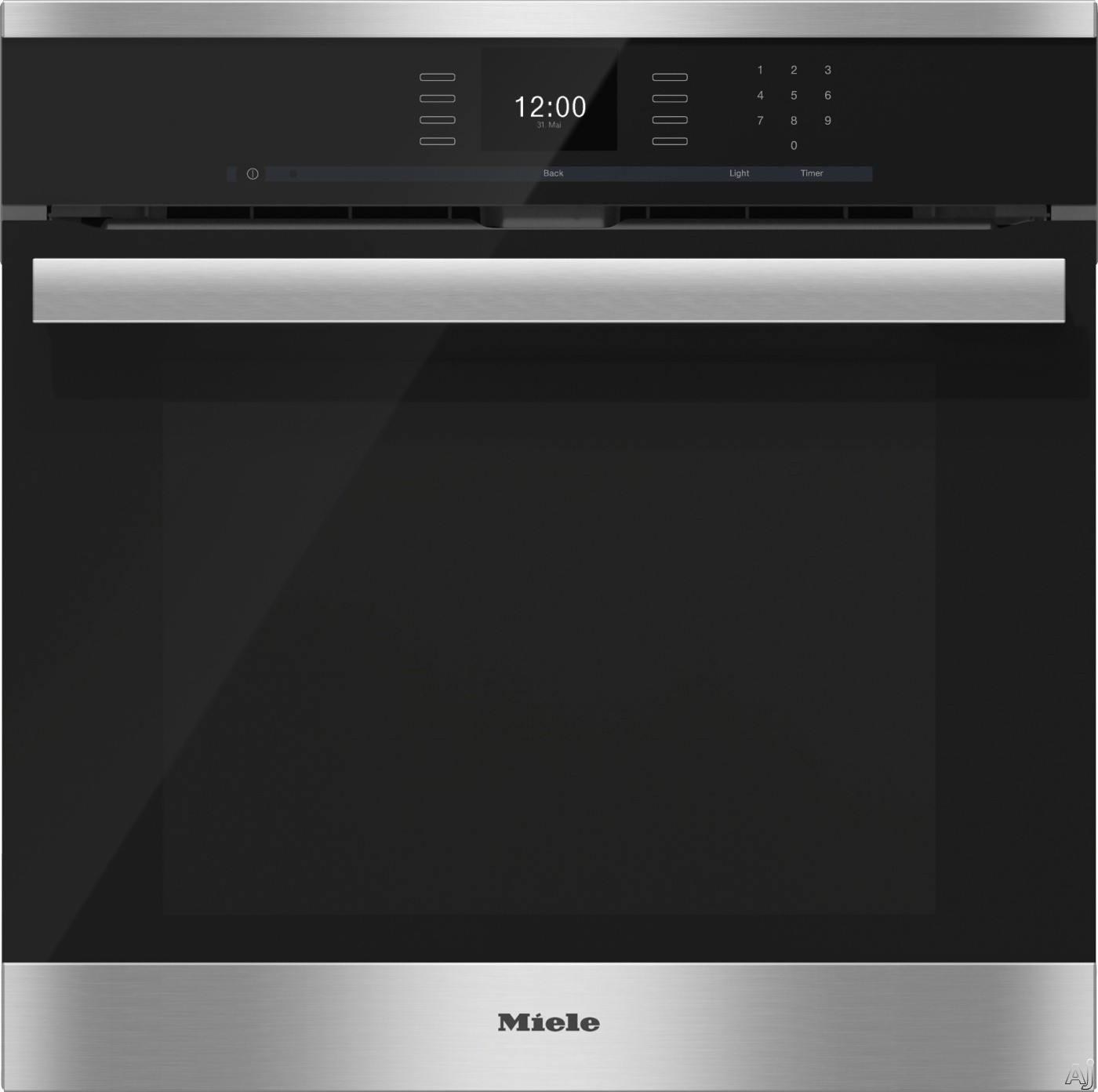 Miele PureLine SensorTronic Series H6660BP 24 Inch Single Electric Wall Oven with Convection Cooking, Self Cleaning Mode, SensorTronic Controls, MasterChef Programs, Temperature Probe, PerfectClean Fi