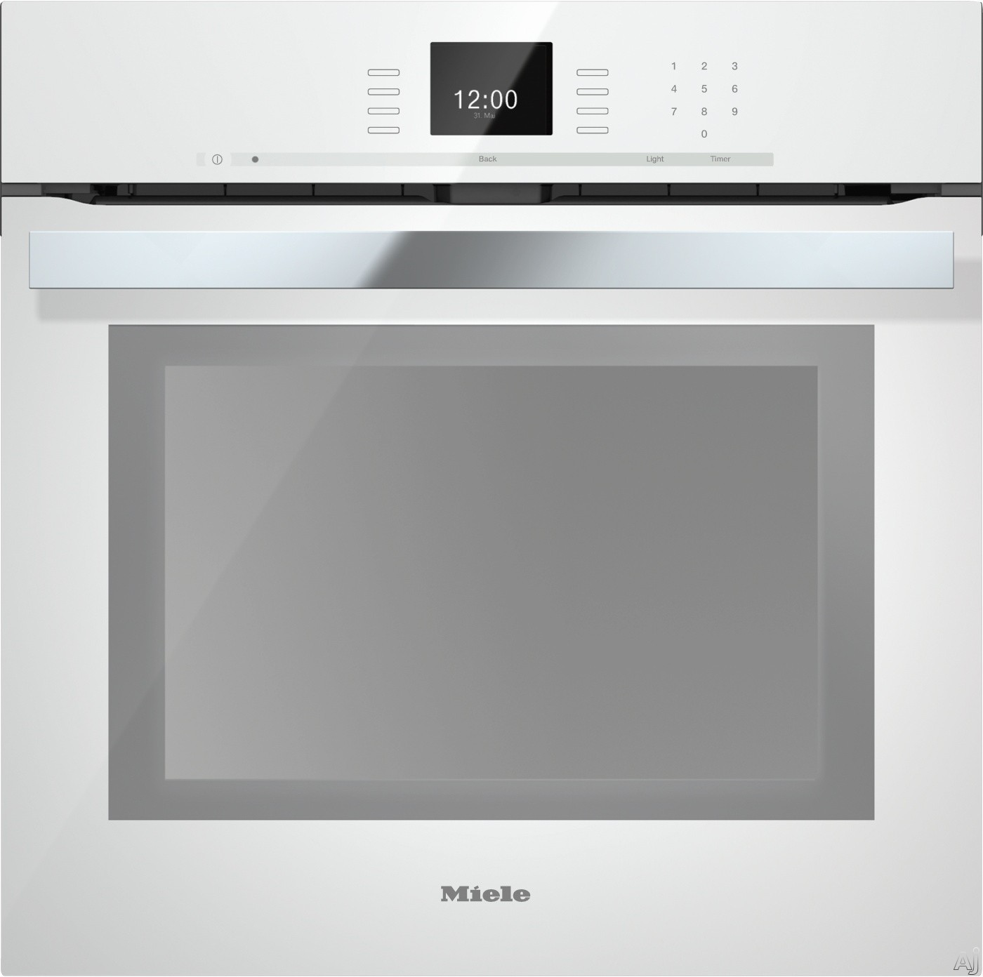 Miele PureLine SensorTronic Series H6660BPBRWS 24 Inch Single Electric Wall Oven with Convection Cooking, Self Cleaning Mode, SensorTronic Controls, MasterChef Programs, Temperature Probe, PerfectClea