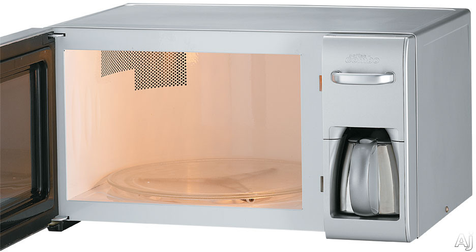 LG LCRM1240SW 1.2 Cu. Ft. Countertop Combination Microwave and Coffee Maker with 1200 Cooking ...