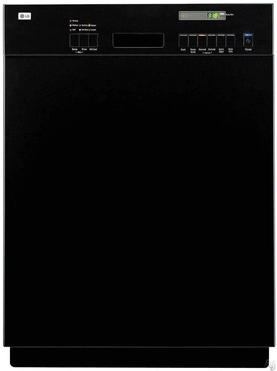 Lg Electronics - LG LDS5811BB Full Console Dishwasher With 6 Wash Cycles & Semi-Integrated Electronic Control Panel Black