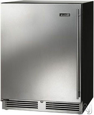 Perlick ADA Compliant Models HA24FB31L 24 Inch Built in Undercounter Freezer with 48 cu ft Capacity 2 Full Extension Freezer Shelves Automatic Defrost Digital Controls and Optional Stacking Kit Stainless Steel Left Hinge Door Swing