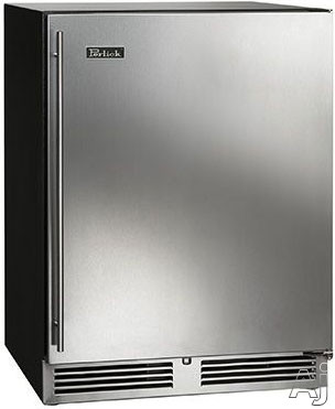 Perlick ADA Compliant Models HA24RB32R 24 Inch Built-in Undercounter Refrigerator with 4.8 cu. ft. Capacity, 2 Full-Extension Shelves, Dial Controls, ADA Compliant, Optional Stacking Kit and ENERGY STAR®: Panel Ready, Right Hinge Door Swing