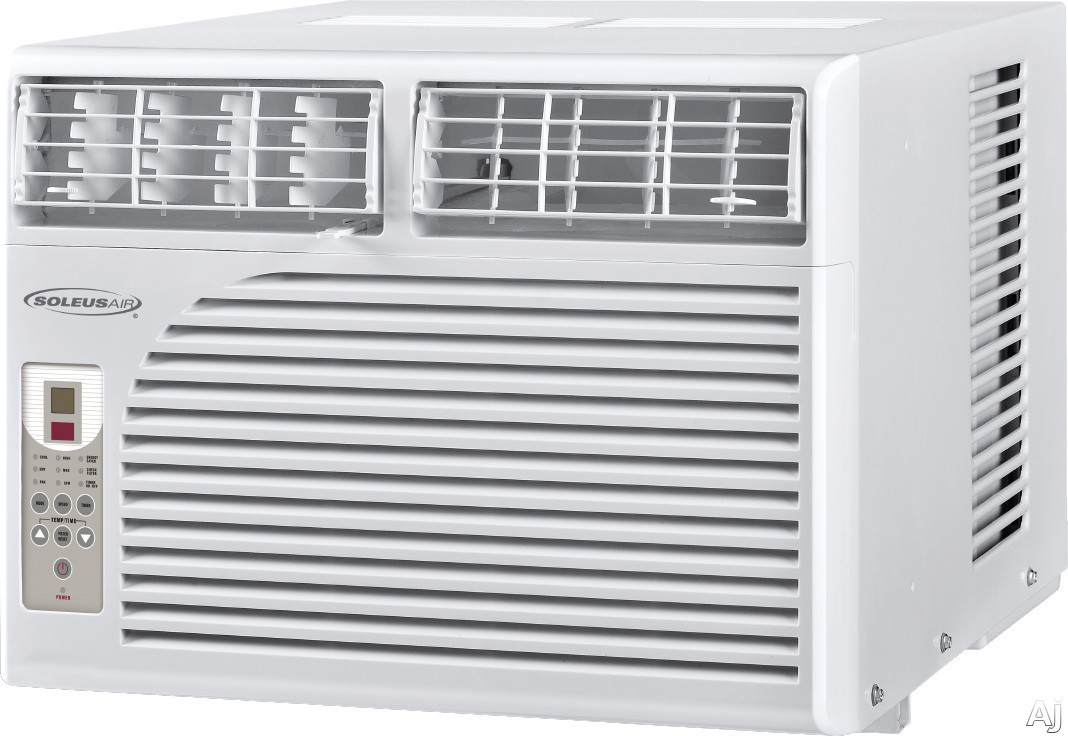 Soleus HCCW10ESA1 10,000 BTU Window Air Conditioner with 11.3 EER, R-410A Refrigerant, 55 Pints/Day Dehumidification, 3 Fan Speeds, Energy Saving Mode and Remote Control