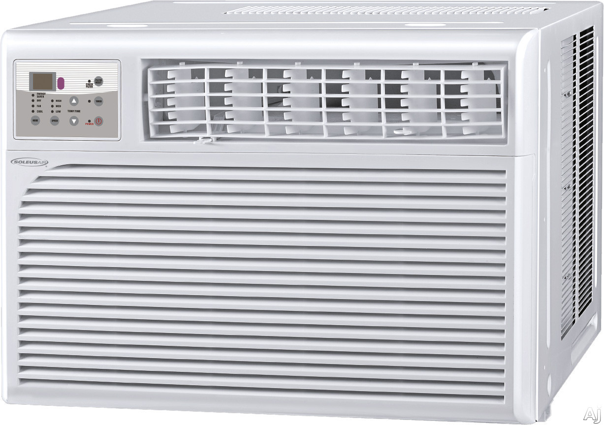 Soleus HCCW12ESA1 12,000 BTU Room Air Conditioner with 11.3 EER, R-410A Refrigerant, 65 Pints/Day Dehumidification, 3 Fan Speeds, Energy Saving Mode and Remote Control