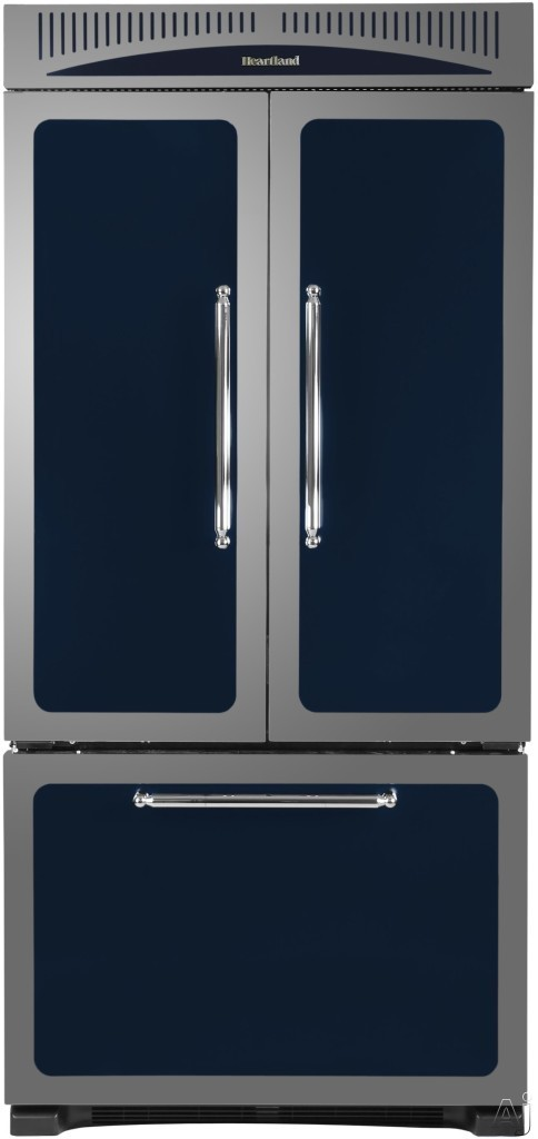 Heartland Classic Collection HCFDR23 36 Inch Counter Depth French Door Refrigerator with 22.6 cu. ft., 4 Adjustable Half-Width Shelves, Temperature Controlled Storage Drawer, Wine Rack, Automatic Ice Maker, Sabbath Mode and Star-K Certified