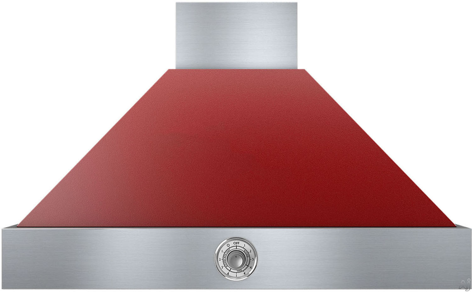 Superiore Deco Series HD361ACRC 36 Inch Wall Mount Canopy Hood with 600 CFM Blower, 4 Speed Settings, 3 Dishwasher Safe Baffle Filters, 2 Halogen Lights, 58 dBA Noise Level and Automatic Shut-Off: Red