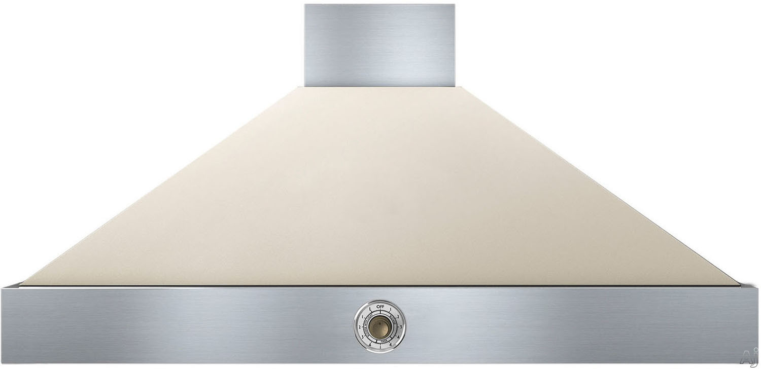 Superiore Deco Series HD481ACCB 48 Inch Wall Mount Canopy Hood with 600 CFM Blower, 4 Speed Settings, 4 Dishwasher Safe Baffle Filters, 2 Halogen Lights, 58 dBA Noise Level and Automatic Shut-Off: Cre