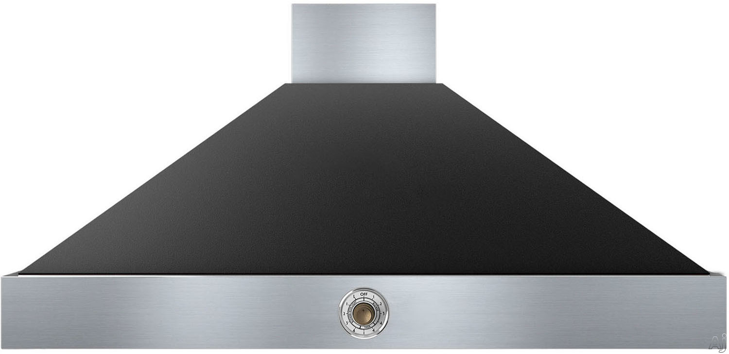 Superiore Deco Series HD481ACNB 48 Inch Wall Mount Canopy Hood with 600 CFM Blower, 4 Speed Settings, 4 Dishwasher Safe Baffle Filters, 2 Halogen Lights, 58 dBA Noise Level and Automatic Shut-Off: Bla