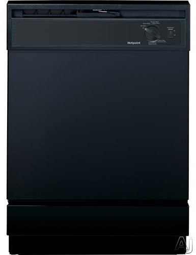 Hotpoint HDA2100HBB Full Console Dishwasher with 6 Wash Cycles 12 Place Settings Capacity Heavy Wash Hot Start Option Hard Food Disposer and 64 dBA