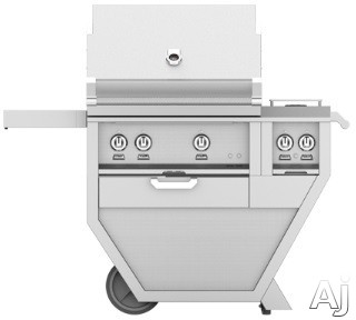Hestan GMBR30CX2 49 Inch Freestanding Grill with Rotisserie, Sear Burner, Warming Rack, 49 Inch Freestanding Grill, 525 sq. in. Grilling Area, Trellis Burner, Double Side Burner, 92,000 BTU, Horizon S