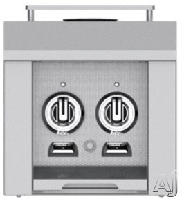Hestan AGB122NG 12 Inch Double Side Burner with 30,000 BTU for Hestan Built-In or Cart-Attached Grills: Stainless Steel