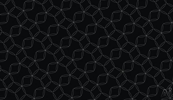 Zephyr AHG00BL Black Glass with Flower Pattern