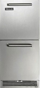 Perlick Signature Series HP15RS3DRAWERS 15 Inch Built-in Undercounter Refrigerator Drawers with 2.8 cu. ft. Capacity, 2 Drawers, Front-Vented RAPIDcool Cooling System, ENERGY STAR and Digital Control Module