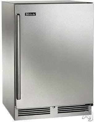 Perlick Signature Series HP24FS3 24 Inch Built-in Undercounter Freezer with 5.2 cu. ft. Capacity, Digital Temperature Controls, Optional Lock and Optional Stacking Kit