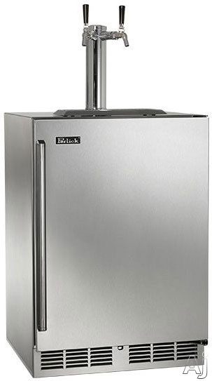 Perlick Signature Series HP24TS3 24 Inch Built-in Beer Dispenser with 1 Quarter-Barrel or 2 Sixth-Barrel Capacity, Variable Speed Compressor and Electronic Digital Temperature Control