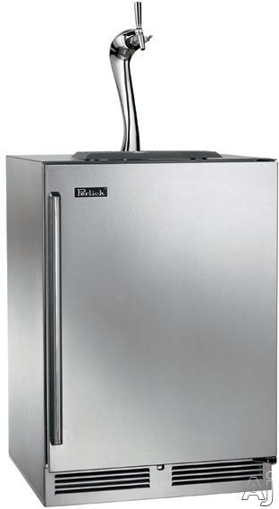 Perlick Signature Adara Series HP24TS3XA 24 Inch Built-in Indoor Beer Dispenser with 1/4 Barrel Capacity, 995 BTU Compressor, Adara Tower Flow Control Faucet, RAPIDcool Forced-Air Refrigeration System, Optional Door Lock & Digital Control Module